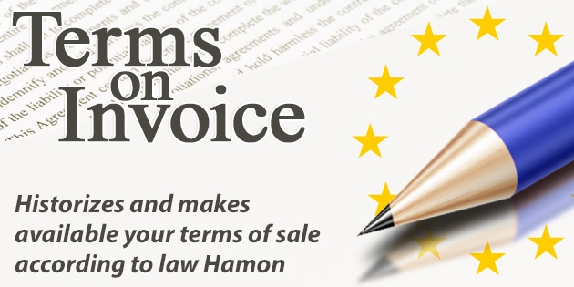 Terms on Invoice - Hamon law